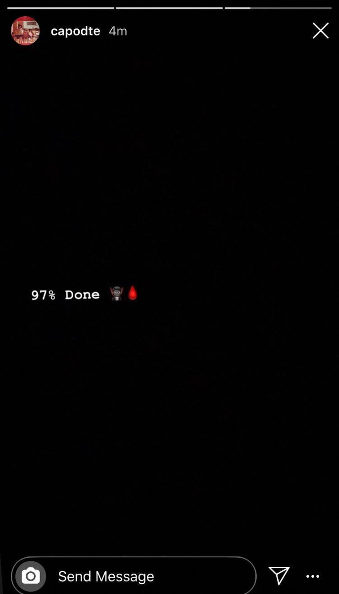 """A close associate to Playboi Carti says """"Whole Lotta Red"""" is 97% done. 👀🩸 https://t.co/0XdUBIrgkC"""