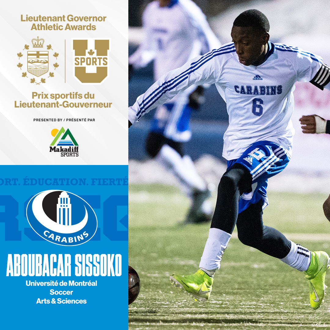 "U SPORTS on Twitter: ""Aboubacar Sissoko, @Carabins ⚽️ VOTE HERE ..."