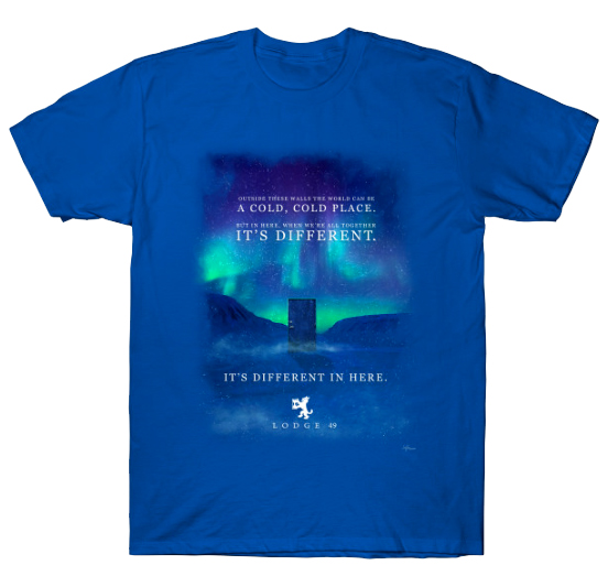 'It's Different in Here' shirts are now added on 24 hour sale for $14 (along with all the others) at:   More to come tomorrow.  #Lodge49 #drynxwithlynx #longlivelodge49 #Lodge49Forever
