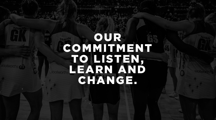 The Australian netball community responds to Beryl Friday's interview with Sue Gaudion and outlines @SuperNetball and Netball Australia's commitment to learn, listen and change.  Read the full statement - https://t.co/EdP4AXp1oM https://t.co/zeJXLc2HZ1