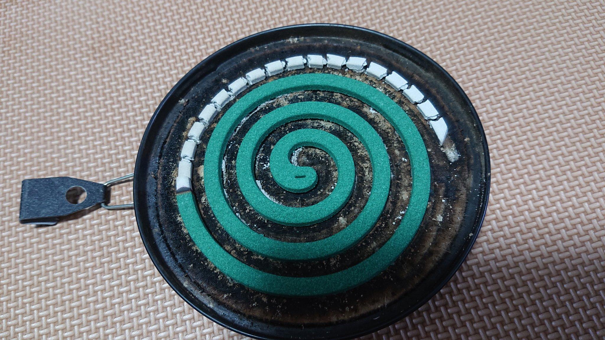 「蚊取り線香」謎の改良版!等間隔に灰が切れる!