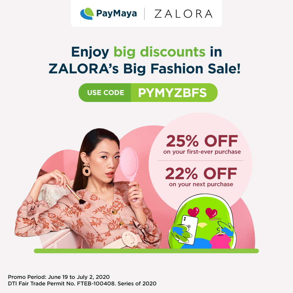 Enjoy BIG DISCOUNTS on the things you love at @ZALORA's Big Fashion Sale! ​  ​Get 25% OFF on your first-ever ZALORA purchase or 22% on your next great find when you use code: PYMYZBFS and pay using your PayMaya card.​  T&C apply. Learn more at https://t.co/r0M8Et0HVd https://t.co/3OcWsHInnw