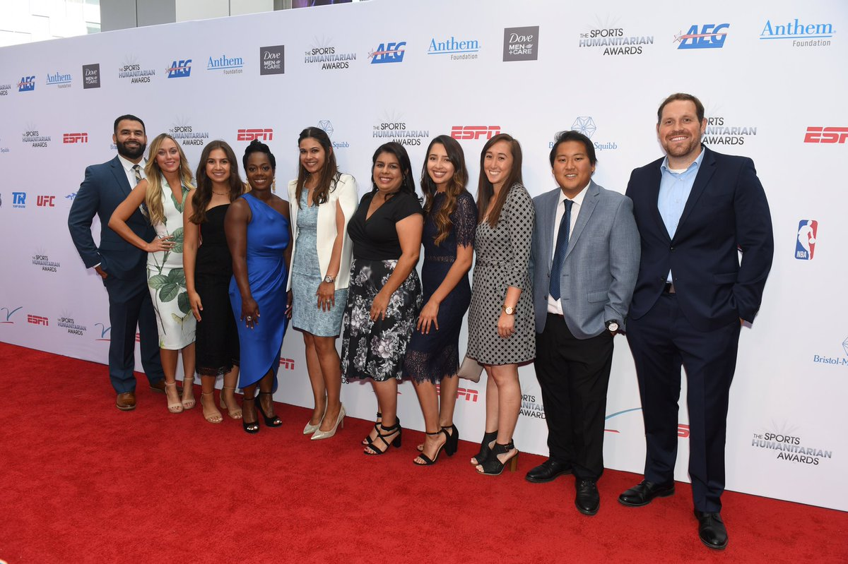 We are far from done. We will use this win to make an even bigger impact on the city of Los Angeles!  2020 ESPN Sports Humanitarian Team of the Year!  📷: Last Year at the 2019 Sports Humanitarian Awards  #BiggerThanBaseball https://t.co/A3K5dD6p0N