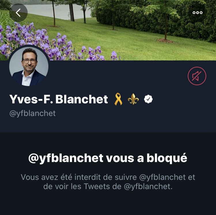 I guess I'm not a Québécois anymore: I've been BLOCked by the Bloc's leader 🤷🏻‍♀️
