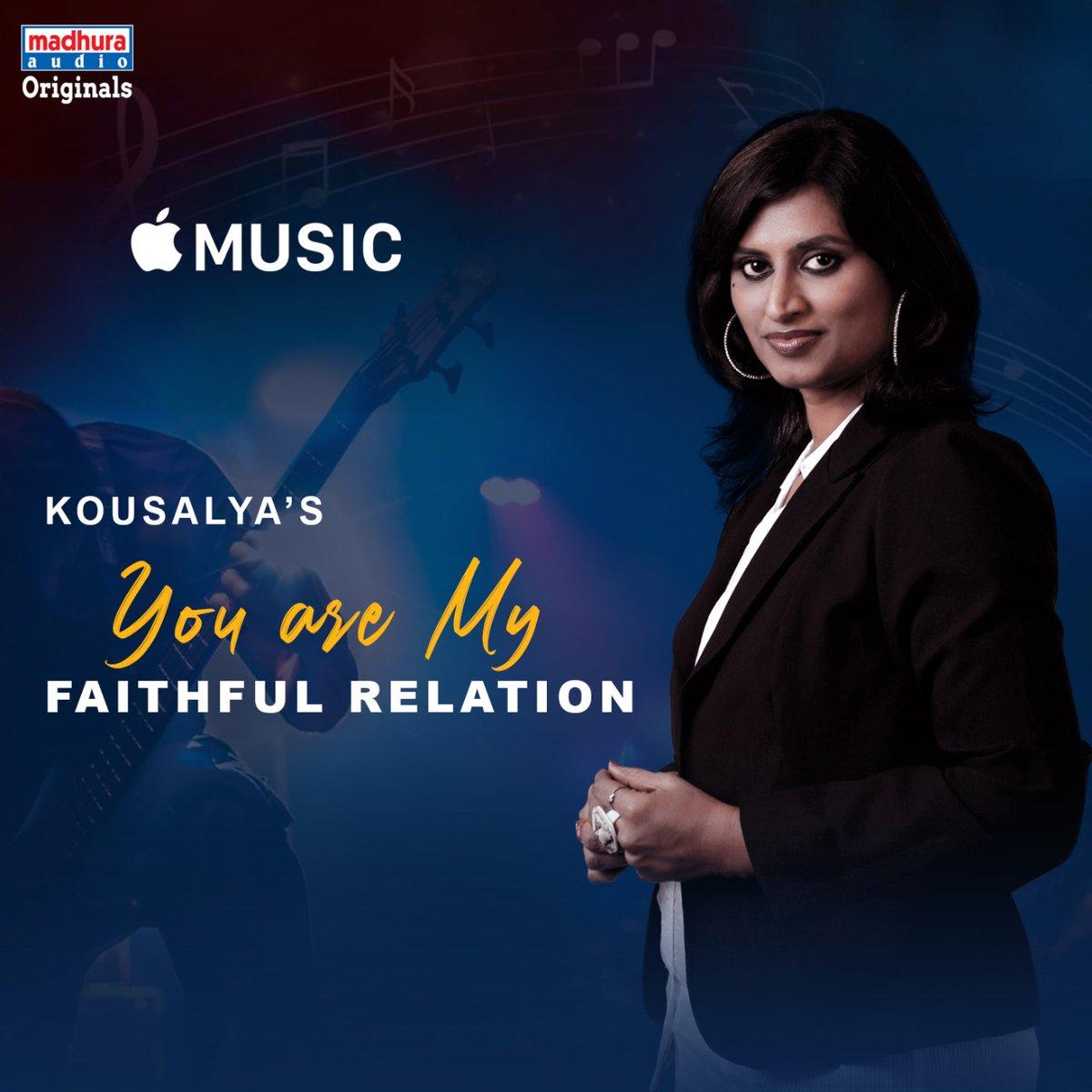 Talented Singer @KousalyaPotturi's #YouAreMyFaithfulRelation IS Streaming On Your Favorite OTT App  @AppleMusic: https://music.apple.com/in/album/you-are-my-faithful-relation-single/1518531301…pic.twitter.com/kNdelp9Nlj