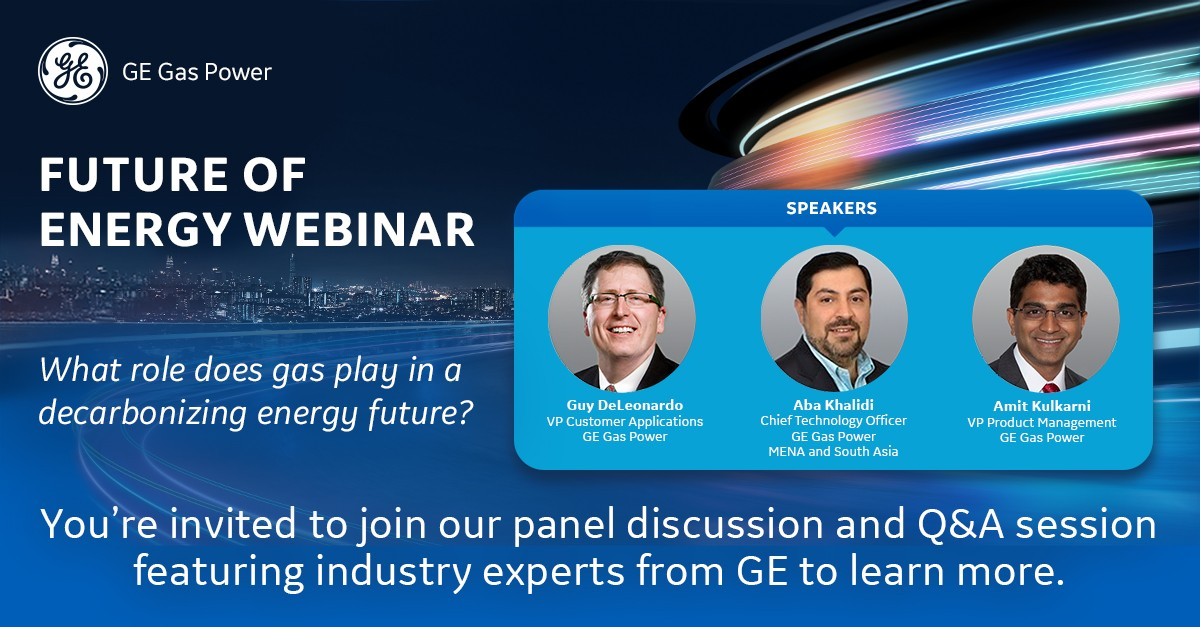#HappeningTomorrow – Decarbonization: The Role of Gas in our Energy Future webinar. Tune in at 1 pm UAE | 12 noon KSA to learn more about how gas can help bridge the energy gap & create a lower-carbon future, particularly in the #MiddleEast. Register here https://t.co/Fv5AX9K054 https://t.co/GnnBRcb19i