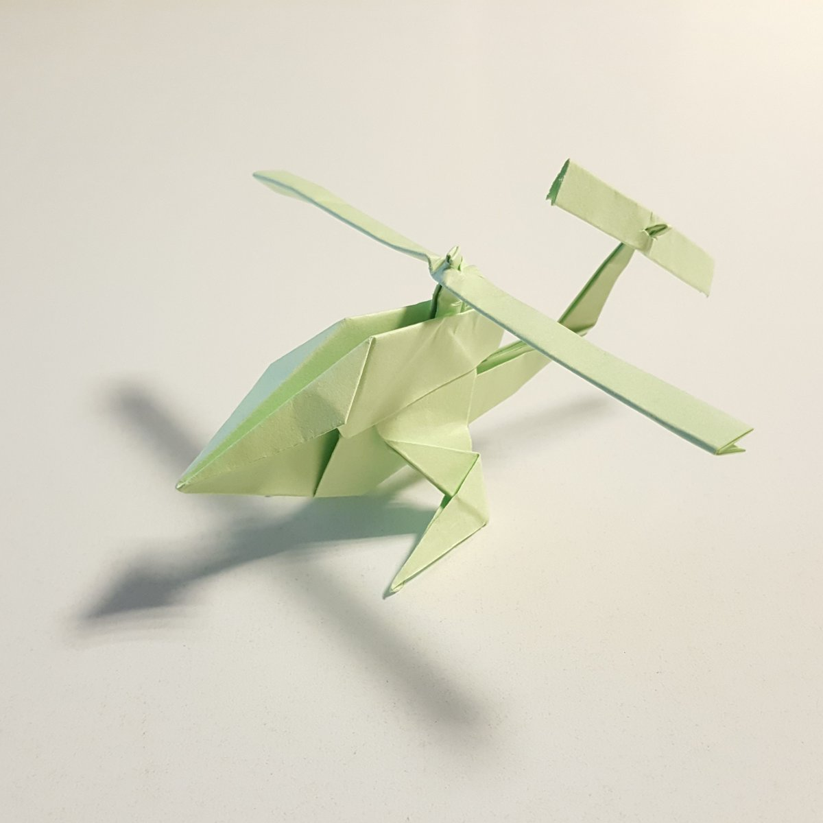 Origami - How to make a Paper Helicopter | Origami helicopter ... | 1200x1200