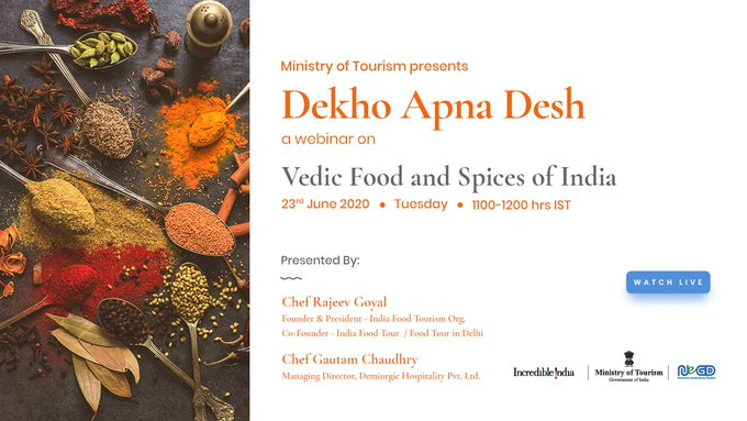 Tourism Ministry conducts webinar on 'Vedic Food and Spices of India'