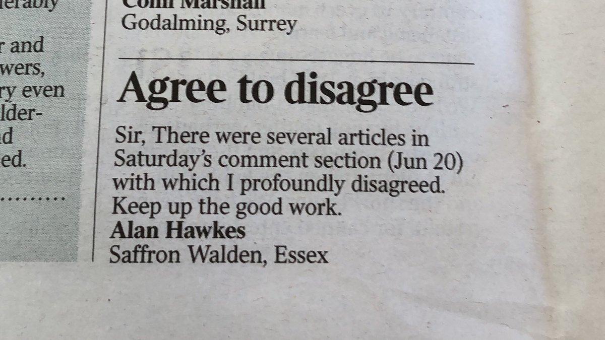 Lovely letter in today's Times https://t.co/eGfsPASutf
