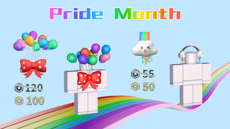 🌈Show some love and celebrate Pride Month with some deals!!🌈  Cloud-9 Headphones: https://t.co/Ot4qWixrbP  Balloon Wings: https://t.co/z8nPm7sRBo  #Pride #RobloxUGC #Roblox #UGC @Robloxdevrel @Roblox Thanks for the ❤️ & support!🏳️🌈🏳️🌈 https://t.co/BvdZDUhcQn