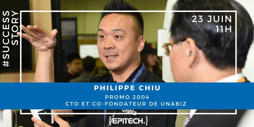 #SuccessStory 📅RDV mardi 23 juin à 11h pour découvrir le témoignage de Philippe Chiu, Alumni promotion 2004 d'Epitech #Paris. Il reviendra sur le parcours de sa Startup Unabiz, un facilitateur du Massive IoT basé à Singapour et Taiwan ! Inscriptions👉https://t.co/I55ADTZQPC https://t.co/dT9uiVLnvp
