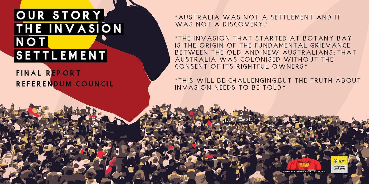 The story of the #UluruStatement is the story of First Nations. Following our previous post on Our Law, we discuss Invasion. This is the beginning of our relationship we must reform. Read Our Story online via our website (ulurustatement.org/our-story). #IndigenousX #auspol #auslaw