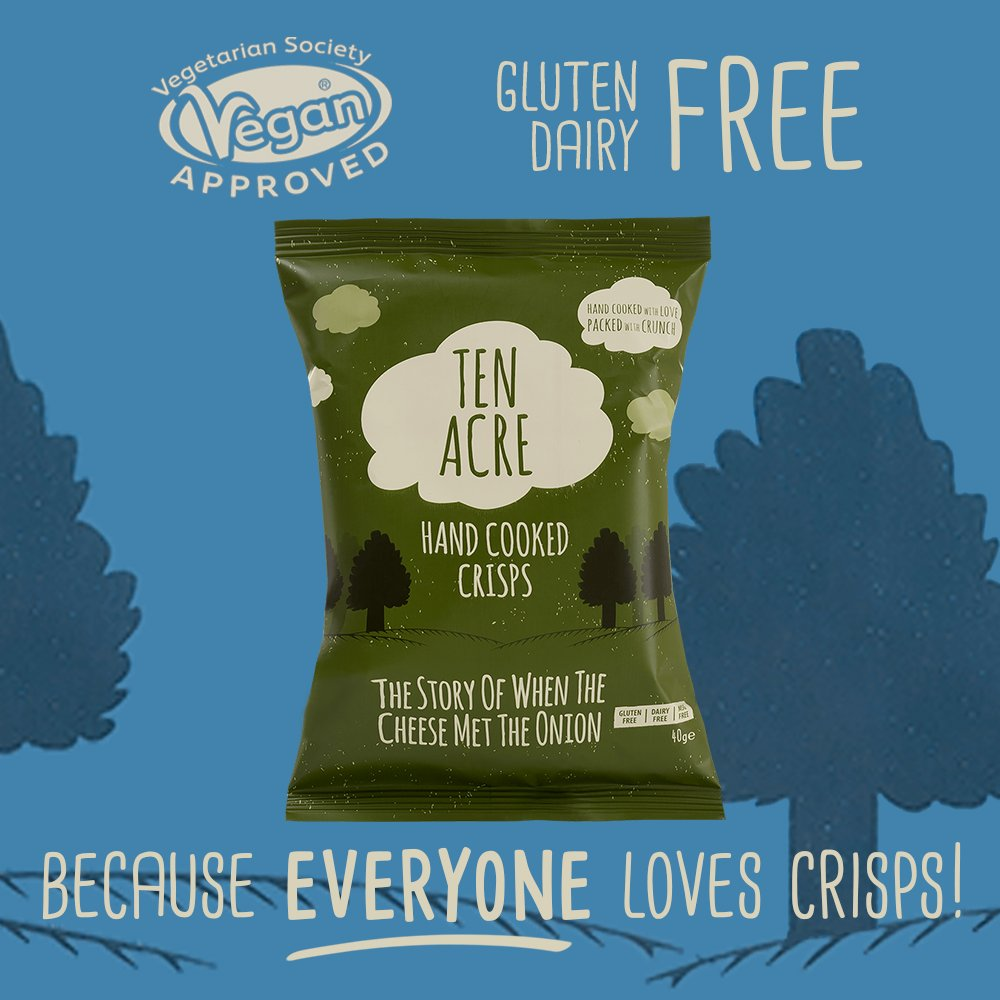 CHEESE AND ONION APPRECIATION POST  The perfect free from snack, hand cooked with love and packed with crunch. A classic recipe combination and one of Ten Acre's best! Mature and so cheesy – you won't believe it's vegan!  What's your favourite #TenAcre flavour?