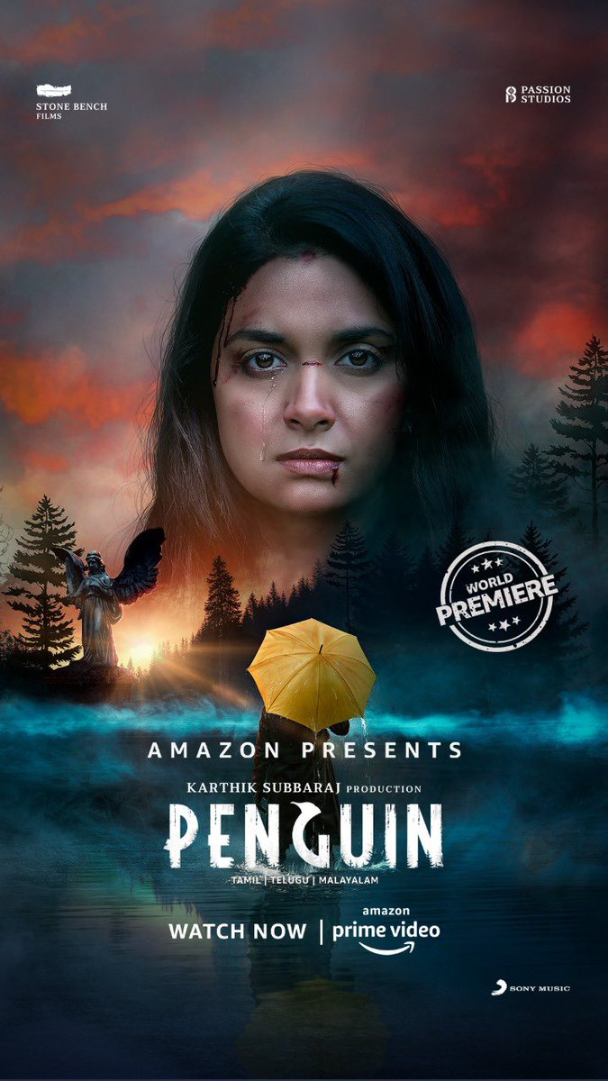 Been hearing good reviews about #Penguinonprime so We watched it last night. @KeerthyOfficial has slipped into her character with so much ease along with the suspense that got all of us hooked on. The BGM was 👏👏 It's on @primevideoin   @karthiksubbaraj @EashvarKarthic