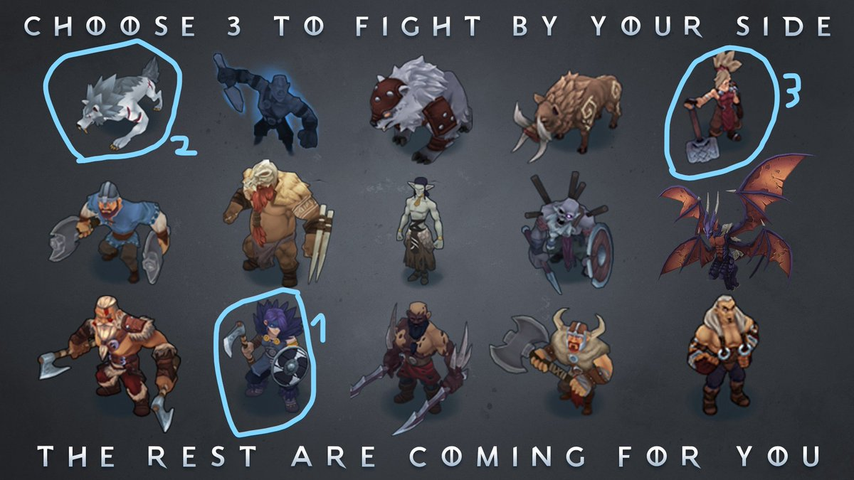 Shiro Games Na Twitterze Your Efforts In Northgard Have Not Gone Unnoticed And Now The Inhabitants Of The Land Have Their Eyes Set Firmly On You Pick Three To Defend You Rest