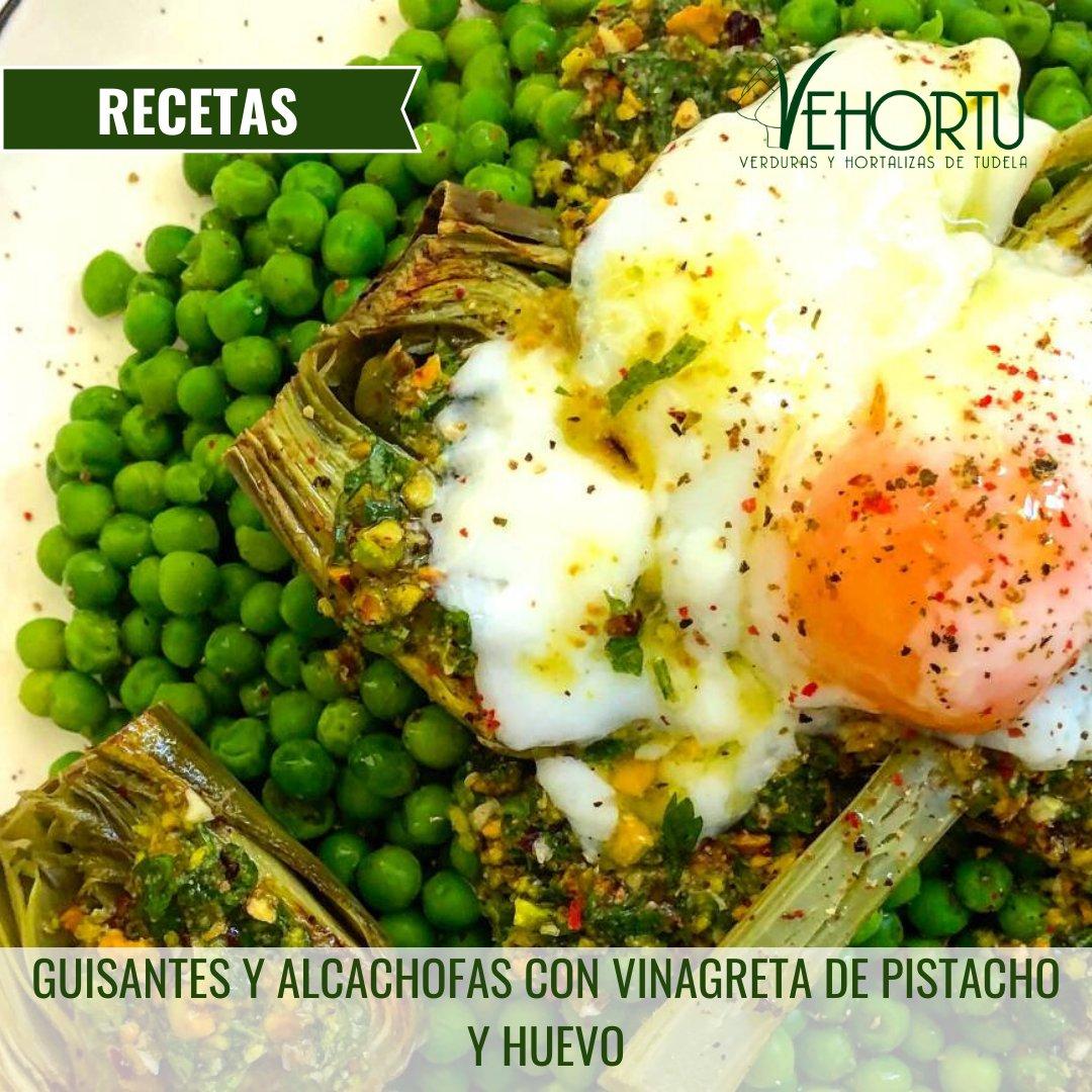 🍴 #RecetasVehortu GUISANTES Y ALCACHOFAS CON VINAGRETA DE PISTACHO Y HUEVO https://t.co/DSQk9cs8uf  Ingredientes para 4 personas: ▫ 800 g de guisantes (pueden ser congelados) ▫ #Alcachofa Blanca de Tudela ▫ ½ limón https://t.co/gXafEUYgmM