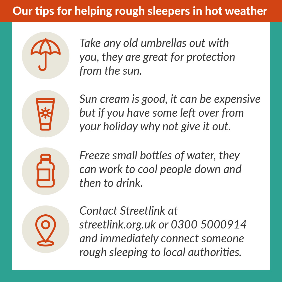 Heres what to do if you see a homeless person during the #heatwave expected this week. Please share.🔁