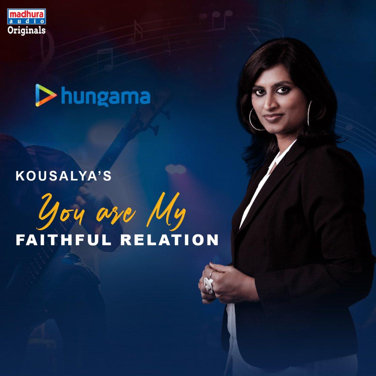 Talented Singer @Kousalyapotturi's #YouAreMyFaithfulRelation IS Streaming On Your Favorite OTT App  @Hungama_com: https://www.hungama.com/album/you-are-my-faithful-relation/54157858/…pic.twitter.com/ubRXBVtD5G