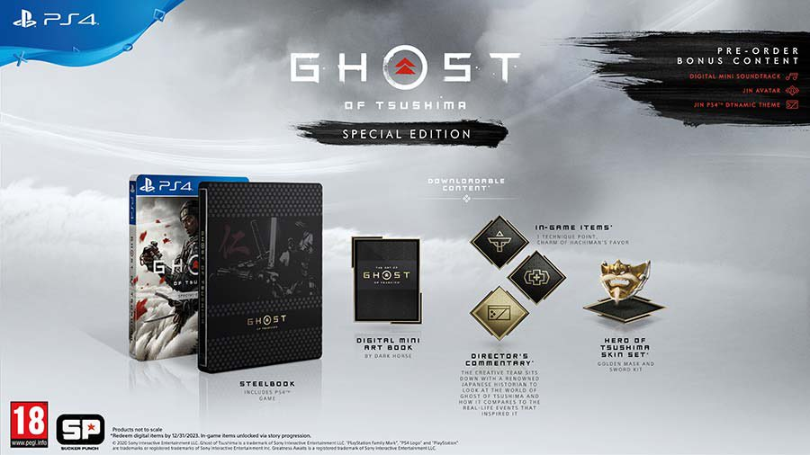 No long now until #GhostOfTsushima launches!   the Special Edition in store. Includes  -SteelBook -Digital Art Book -In-game Items -Hero of Tsusmima skin Set  £10 deposit to Preorder and secure yours for day one. https://t.co/NPEDP6evZQ