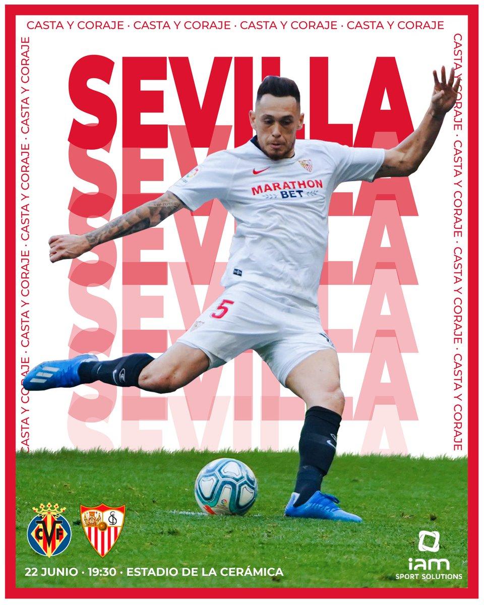 Casta y coraje @SevillaFC!!! ⚽💪🏻 👊🏻 #VillarrealSevillaFC ⚪🔴 #WeAreSevilla