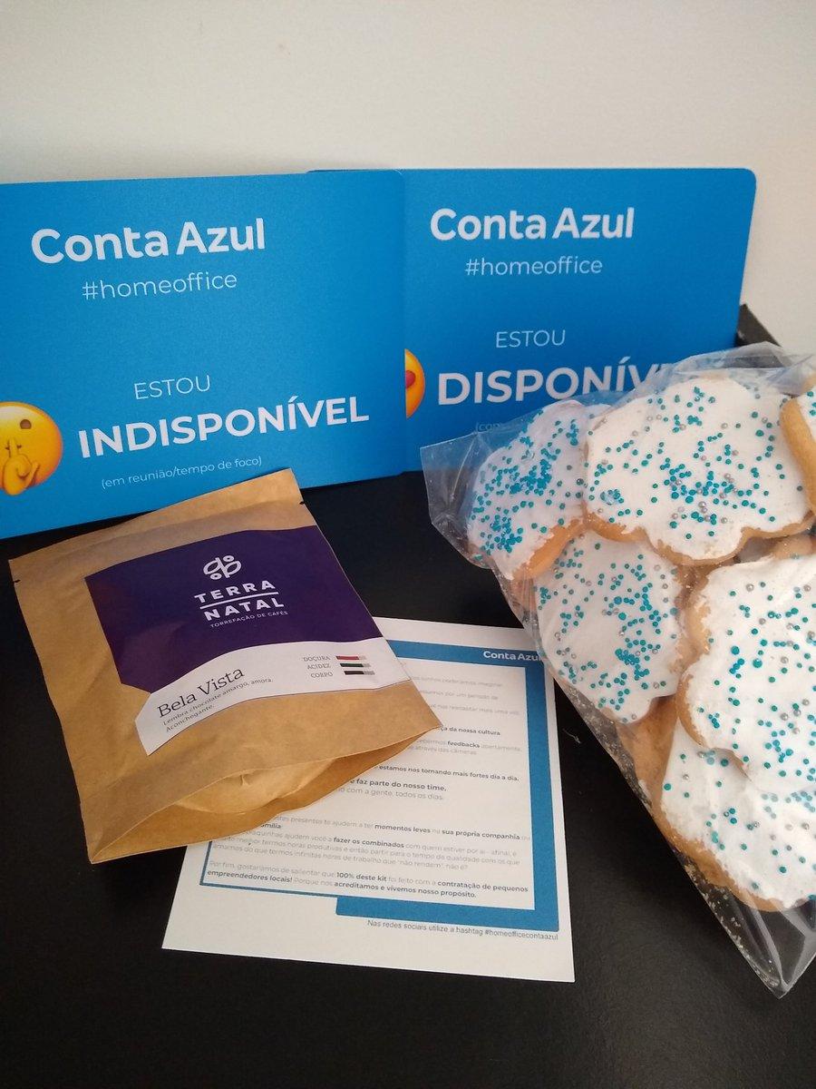 @ContaAzul acabou de mandar um café da manhã e umas plaquinhas de home office 👏👏👏 https://t.co/AcftilL5OP