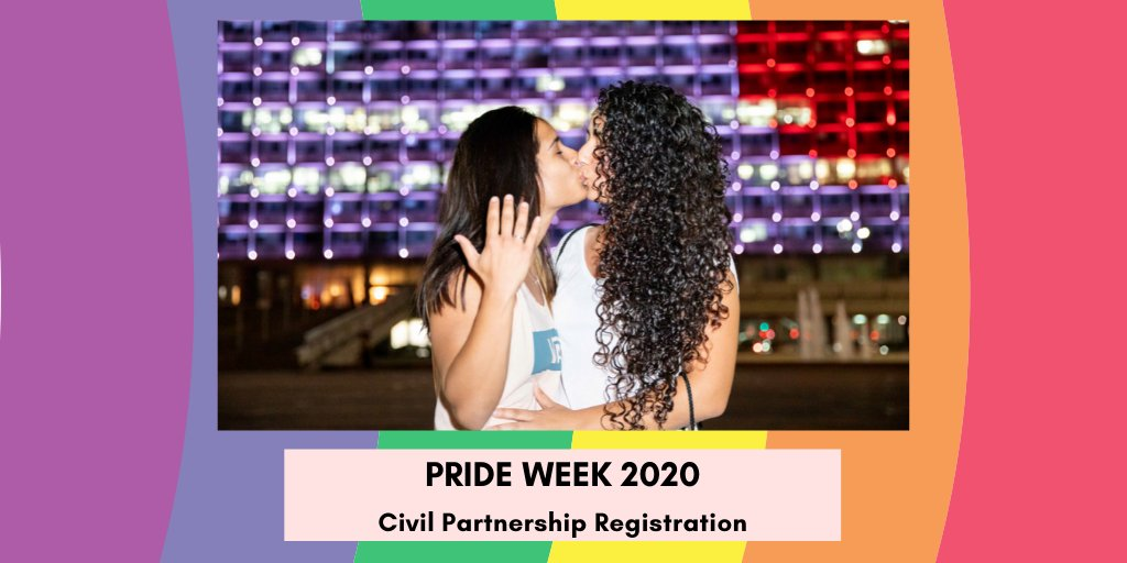 For #Pride2020 week, unmarried couples, including same-sex couples will be registered as family units, which will make bureaucratic processes at the #TelAviv- Yafo Municipality, such as the enrolment of children in the city's educational institutions, much easier.🏳️‍🌈 https://t.co/Jo8ffF0XGN