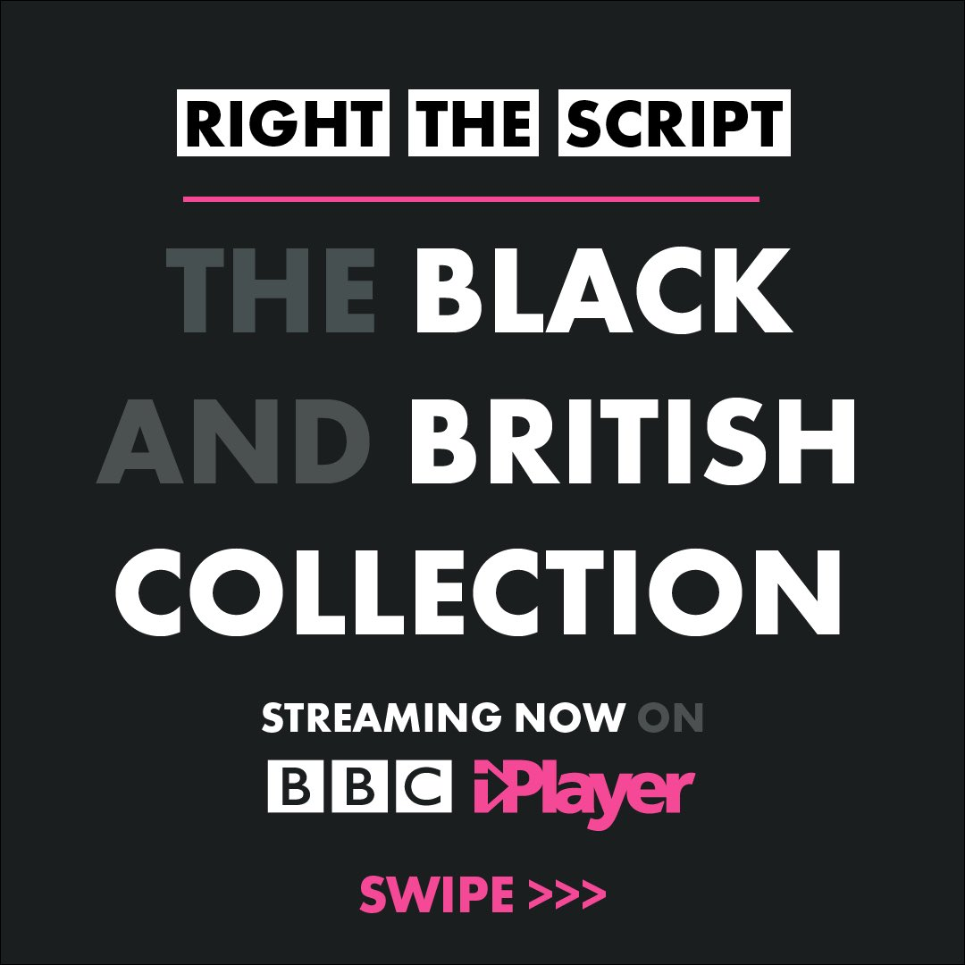 #RightTheScript - The Black and British Collection. Streaming now on @BBCiPlayer. https://t.co/ObUssPITEl https://t.co/9fEVRBYpoB