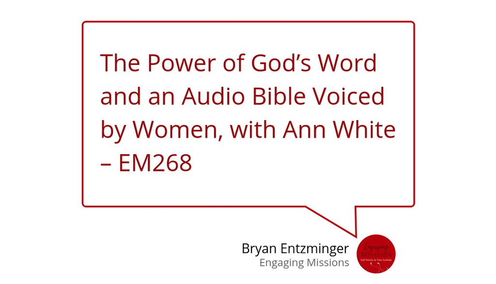 Did you know that for some people, hearing the Bible read in a woman's voice is the best way for them to come and know Jesus. https://t.co/DaOhlWBfha #Bible #Podcast https://t.co/HekSeI5Vj5