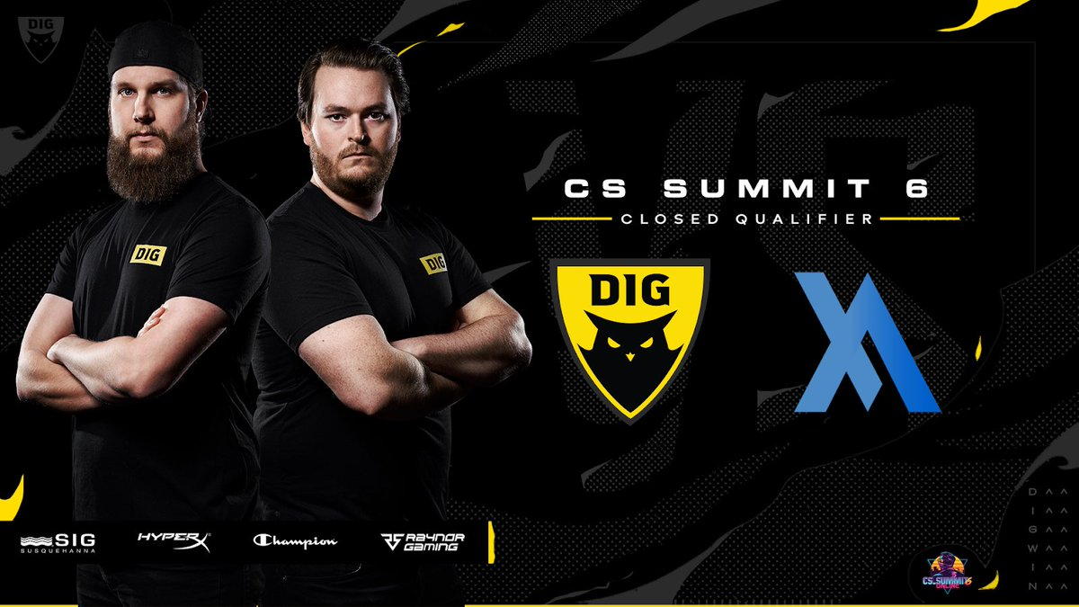 Let's be real. #cssummit has the best content, so we aren't going to miss it.   @FATEesports is in the middle of our path, so #DIGCSGO will take them out in the first round of the EU Closed Qualifer! #DIGWIN   📺https://t.co/YBgrbnDFU3 https://t.co/6R33aiDlD0
