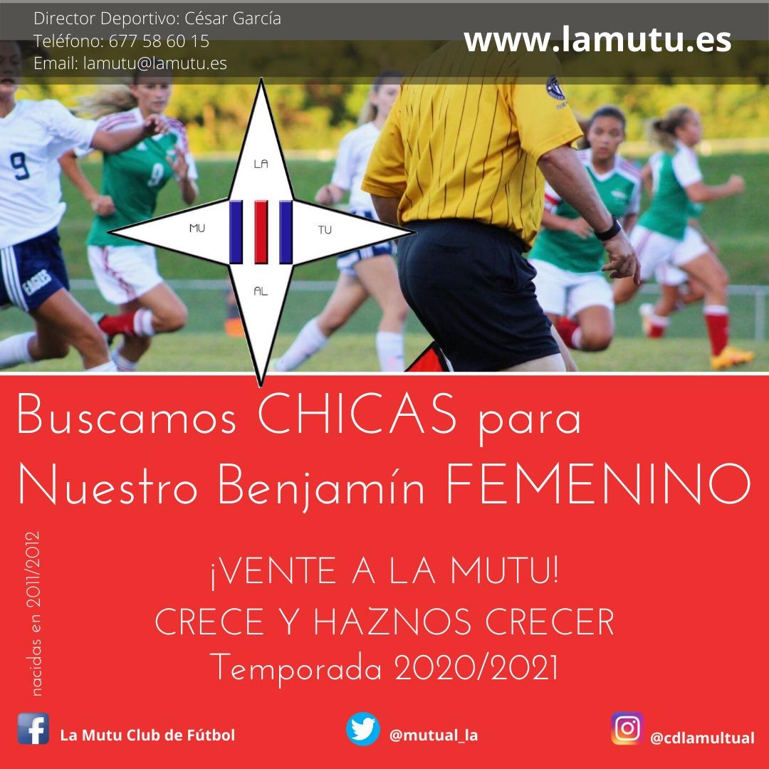 Si te gusta jugar al fútbol y buscas un equipo femenino... vente a la Mutu!! Buscamos chicas nacidas en 2011/2012. #juntossomosmasfuertes #equipo #respeto #ilusión #vamosmutu #lamutualjuanxxiii #lamutualjuanxxiii https://t.co/5Csxdcgv4h