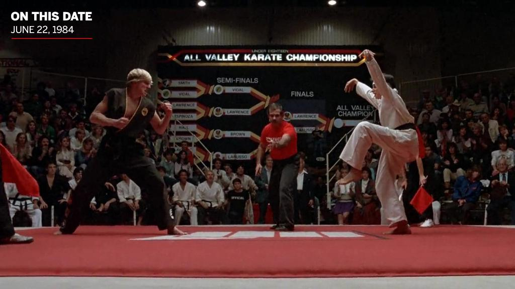 "36 years ago, Daniel LaRusso beat Johnny Lawrence of the ""Cobra Kai"" dojo with the Crane Kick to win the Under-18 All-Valley Karate Tournament. https://t.co/qRy2EEZV3J"