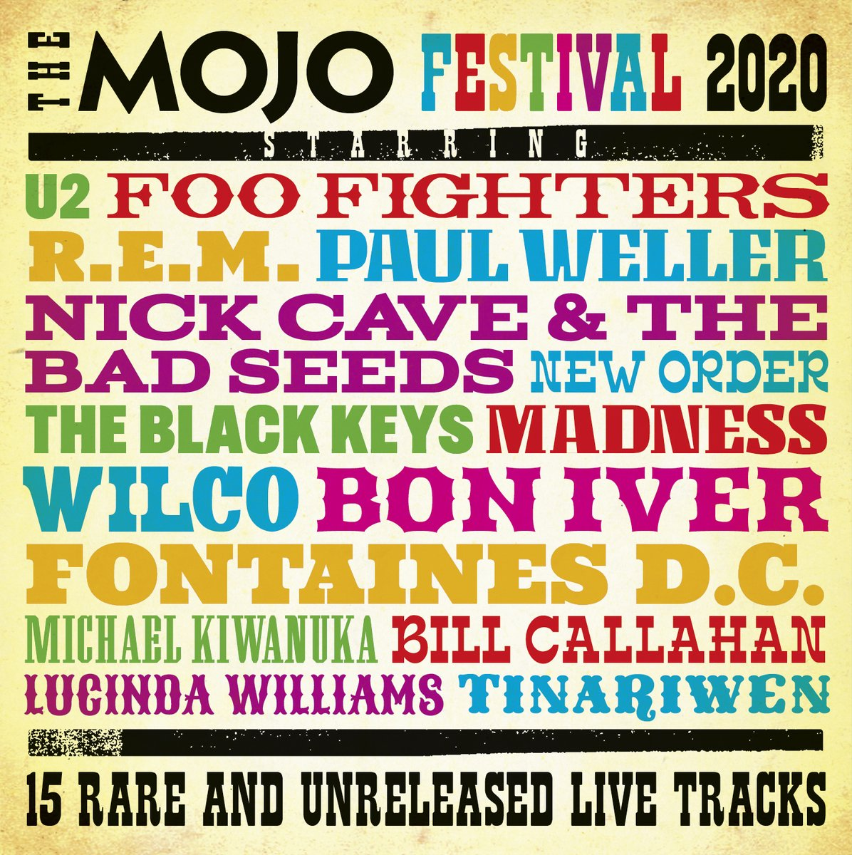 This month's new MOJO comes with an extraordinary CD of live, rare and unreleased tracks by @foofighters @U2 @remhq @paulwellerHQ @nickcave @neworder @theblackkeys @MadnessNews @Wilco @boniver @fontainesdublin @michaelkiwanuka. Order a copy direct from us https://t.co/y4OERgRzCt https://t.co/Uz5MigHPGn