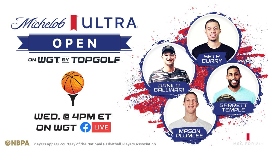 Watch these basketball stars virtually tee off during the Michelob ULTRA Open on @wgtgolf. We're donating $25k to a charity of the winner's choice. Check out https://t.co/5hmGQTgYNZ to watch. https://t.co/q5P2hvy3JR