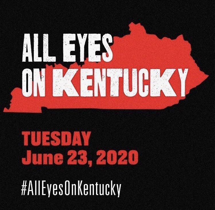 Call, text, email, and DM EVERYBODY you know in Kentucky. * * * #Vote #GetYourAssOutAndVote #AllEyesOnKentucky #JeffersonCounty #Louisville #BreonnaTaylor #RIPBreonnaTaylor #JeniferLewis #TheMotherOfBlackHollywood #InTheseStreets https://t.co/QgQf00heG2