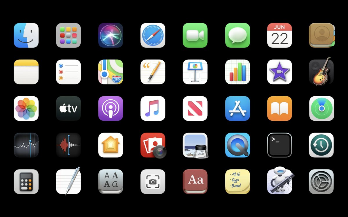 macOS Big Sur Icons