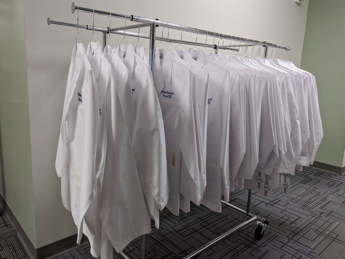Members of our Class of 2022 will be returning to campus on July 13 for hands-on learning. They have begun coming to our reception area one by one to pick up their white coats, which they will wear as they begin their clinical rotations. So excited for them! https://t.co/z6iolbfrAI