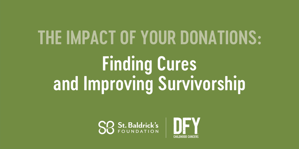 During Cancer Survivors Month we're highlighting 4 areas of research St. Baldrick's specifically funds to help survivors – the 1st of which is research to find cures and improve survivorship.  See how your donations are making an impact. Read more: https://t.co/SuS9AWQXQR https://t.co/74NlxuH765