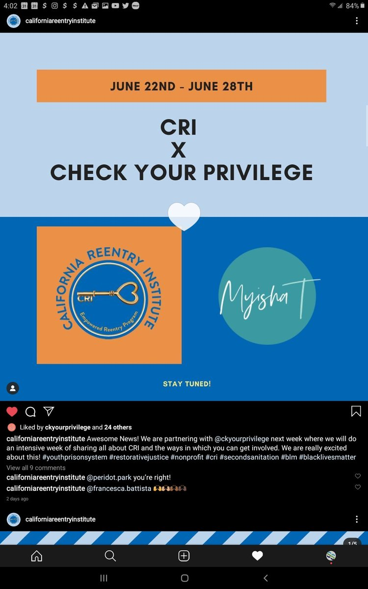 "Instagram Live at 2pm @ckyourprivilege ""LET'S GET INVOLVED"" https://t.co/SYcdjI1NoQ"