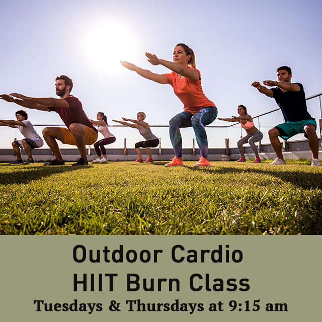 Fitness Classes are back at the Cricket Club! Join us on Tuesdays and Thursdays for our Outdoor Cardio HIIT Burn Classes. Register today at https://t.co/G5h0C6CCRB #TCSCC https://t.co/cKYfZf82wu