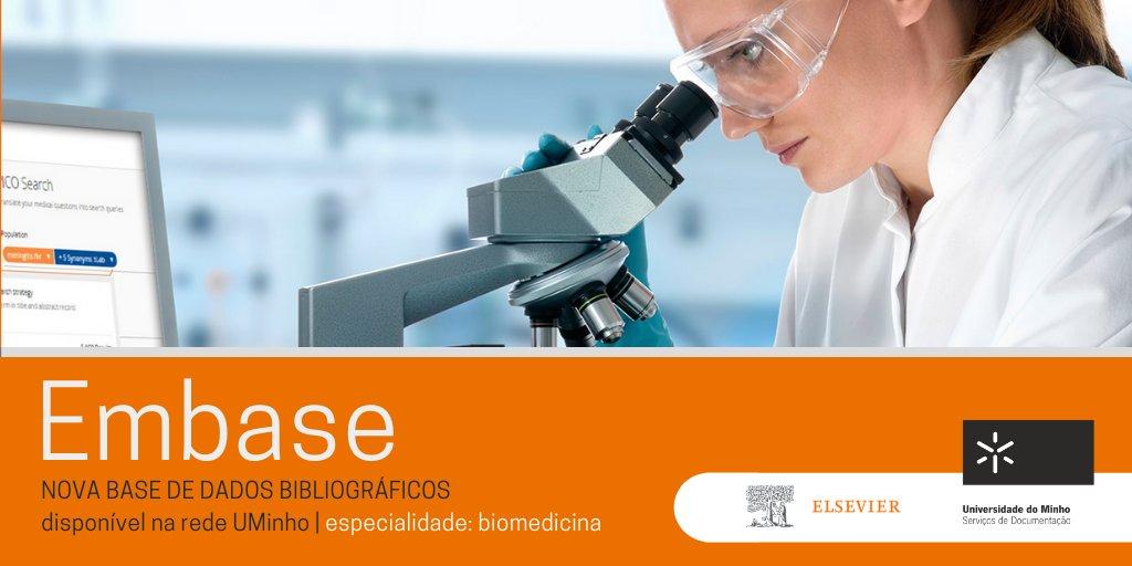 🆕 #EMBASE - nova base de dados bibliográficos, especializada na área de biomedicina, disponível na rede UMinho. Experimente! https://t.co/qLe13nUoSS https://t.co/KfAcsmXByn