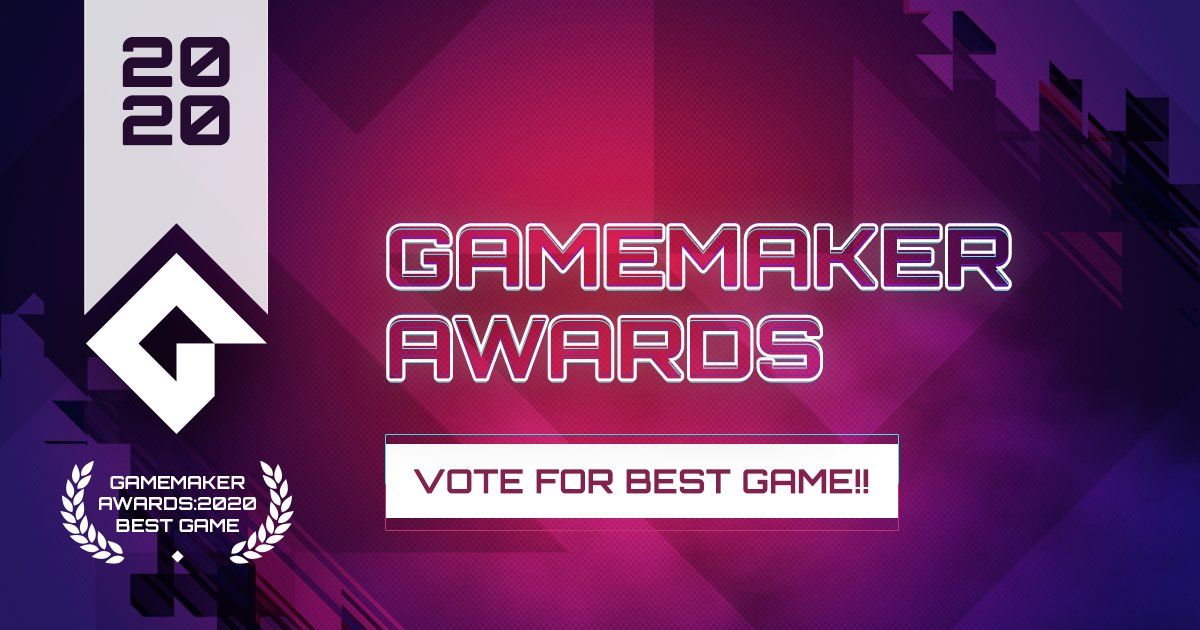 Vote for Best Game NOW!!  See the 5 finalists and vote here: https://t.co/AIjEai2dwz We'll be sharing more about each game over the next 2 weeks. #GameMaker #GMBestGame https://t.co/xMHgx98eoi