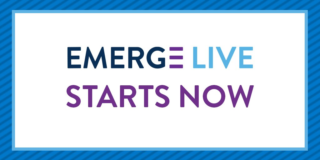 Join us tomorrow at 1:15 CT, or all week for #EMERGELive!