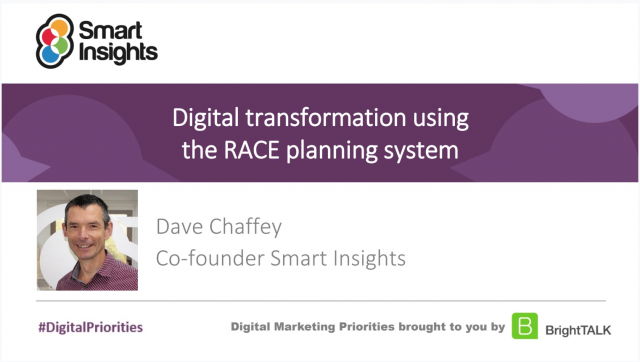 Join Dr. Dave Chaffey's free Digital Transformation webinar on Wednesday 24th June. Learning how to plan, manage and optimize your #digitalmarketing #strategy. Register for free via the link -> https://t.co/rMZl0OUQnD #SmartInsights  #MarketingStrategy #DigitalTransformation https://t.co/CggiN3SEjH