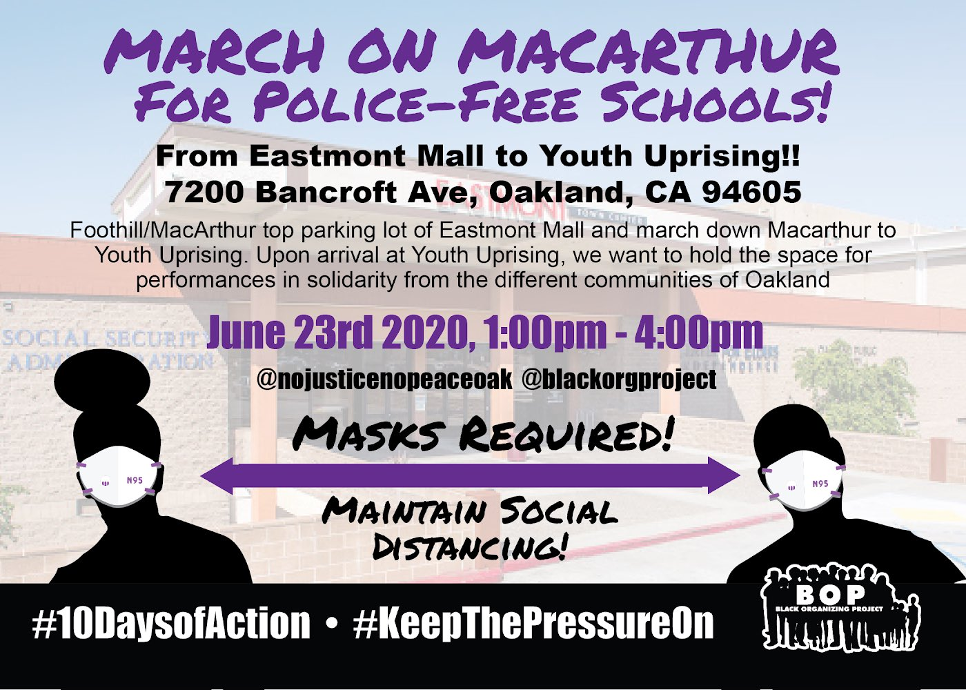 March on MacArthur for Police-Free Schools @ Eastmont Mall
