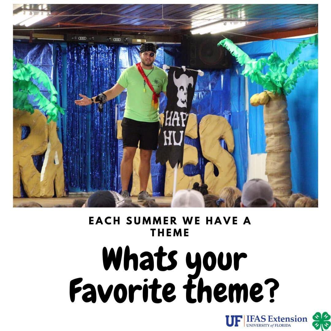 Ahoy Maties! The Pirate theme is one of our favorite summer camp themes! What's yours?
