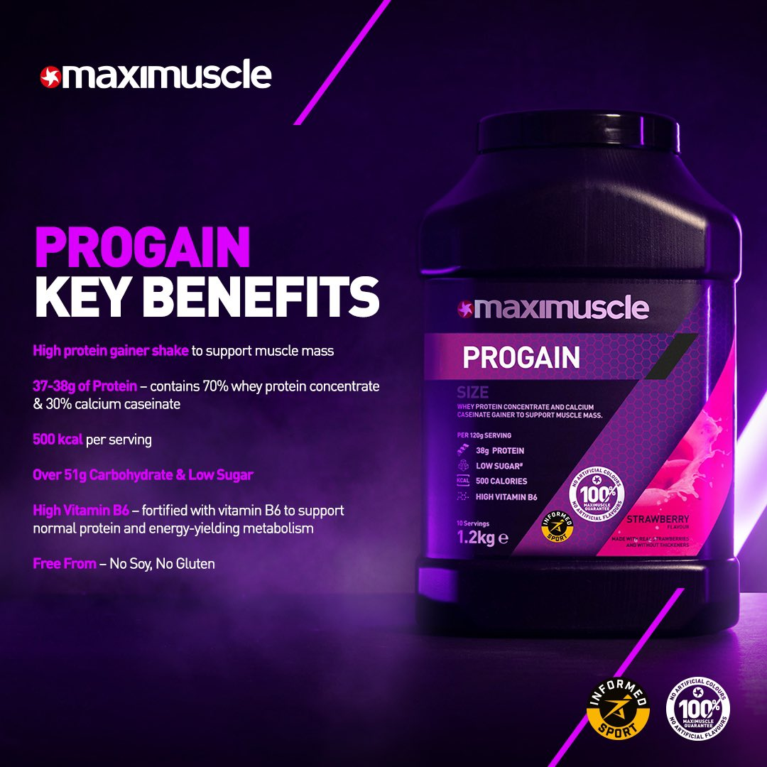 Get 𝐁𝐈𝐆𝐆𝐄𝐑 & 𝐁𝐄𝐓𝐓𝐄𝐑 🦁 Our new Progain will help you build more size and mass than ever before!   💥 Click the link below to grab yours now 💥  https://t.co/RgMc69SVmd  #NEWGEN #PROGAIN #MAXIMUSCLE https://t.co/7asdZp3BEN