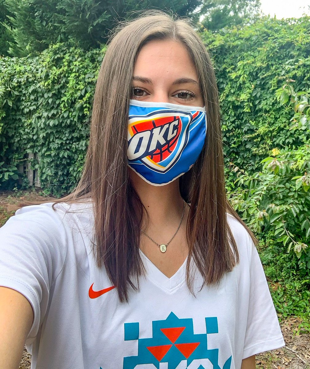 Get your Thunder face masks now at the @thundershop!  We will be donating 100% of the proceeds to the @rfbo and @okfoodbank. #ThunderCares  🔗 | https://t.co/YoNohyBxBr https://t.co/Ej7HPhWH5c