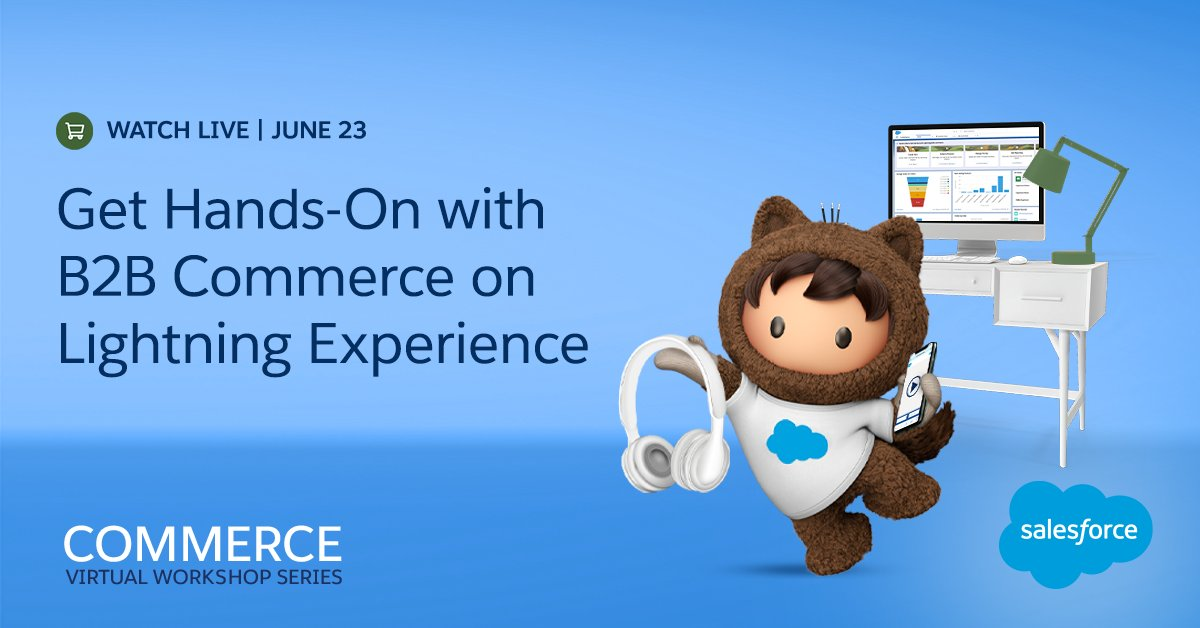 See how it's easy as 🥧 to launch a storefront with the B2B Commerce on Lightning Experience in our virtual workshop.    Get more deets and sign up: https://t.co/ZUFnMWXSZk https://t.co/DUefyAHK2c
