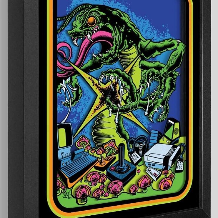 Beware the Centipede by @dirtydonnyart - https://t.co/Q0jCDxdSHw  #art #artwork #shadowbox #dirtydonny #atari #centipede #game #videogames #gamer #gamerguy #gamergirls #3d #scifi #nes #creature #horror #gamerlife #1980s https://t.co/anSCvgNrLq