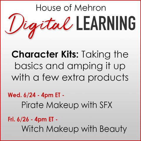 We're back this week! Right here on IG Live we'll be demoing two of  our character kits and showing you how to amp up a basic look with some added products. https://t.co/UHCfNhFAUE